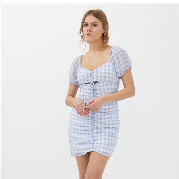 Urban Outfitters Minnie Tie-Up Gingham Dress